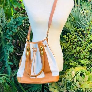 Valentina leather bucket handbag